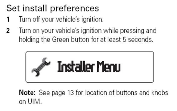 installer menu